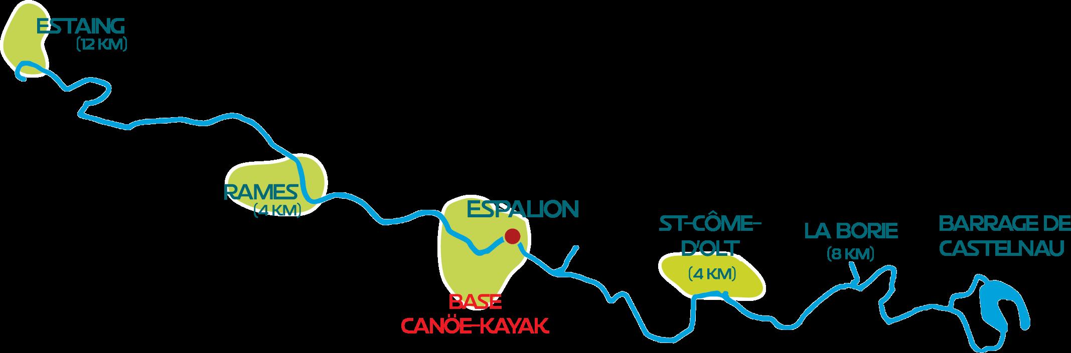 SUR LE LOT CANOE EN AVEYRON